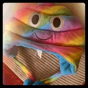 Accessories - O/S Ardene Rainbow Poop Emoji Hat